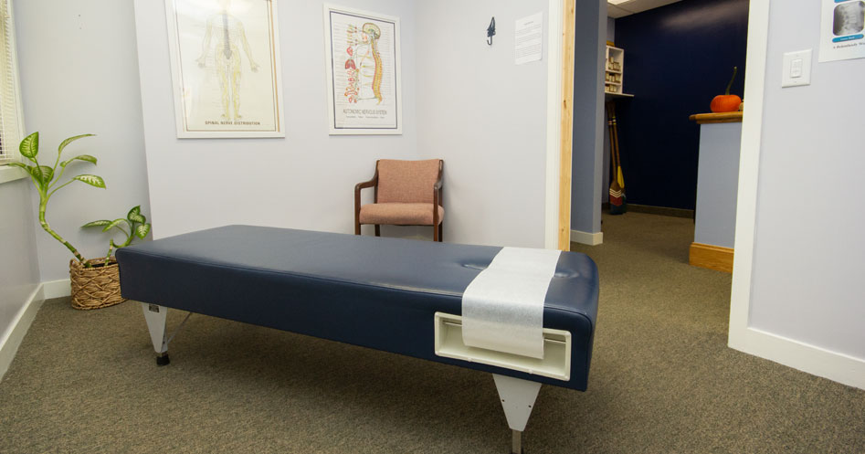 Lincoln Chiropractic's office is a comfortable space for healing and wellness